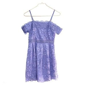Francesca's Periwinkle Lace Dress Size S